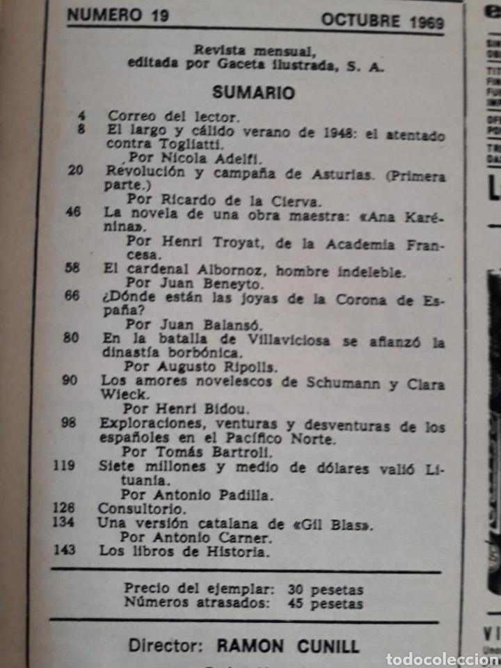 Coleccionismo de Revista Historia y Vida: HISTORIA Y VIDA. NUMERO 19. OCTUBRE 1969 - Foto 2 - 267442504