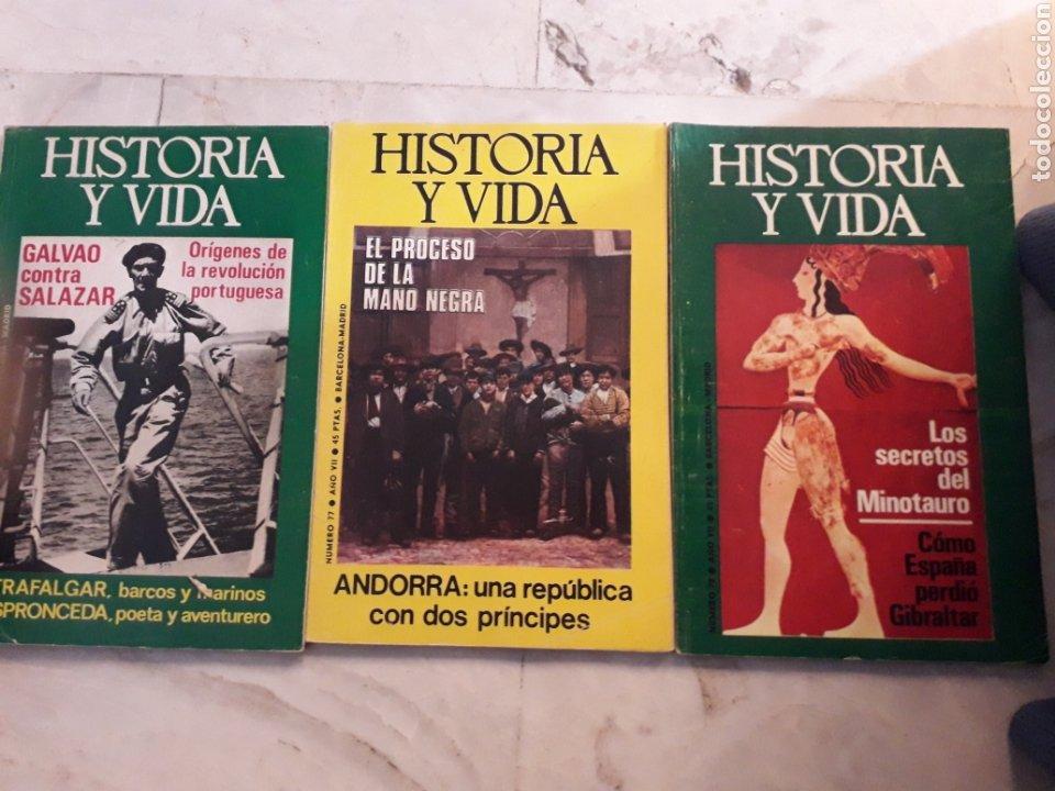 Coleccionismo de Revista Historia y Vida: LOTE 10 REVISTAS HISTORIA Y VIDA. NUMEROS 77,91,78,85,75,96,81,83,84,87. VER FOTOS - Foto 2 - 267571439