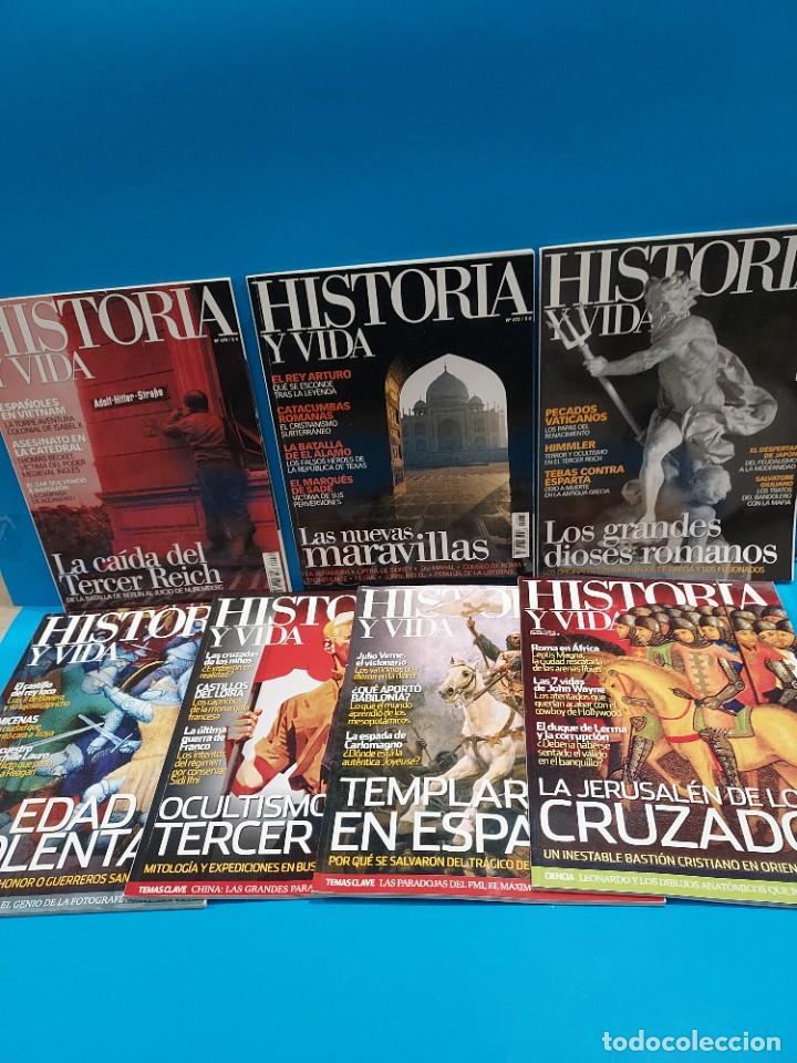 SIETE REVISTAS..HISTORIA Y VIDA...2009..10..11..12... (Coleccionismo - Revistas y Periódicos Modernos (a partir de 1.940) - Revista Historia y Vida)