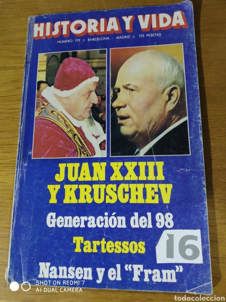HISTORIA Y VIDA NÚM 193 (Coleccionismo - Revistas y Periódicos Modernos (a partir de 1.940) - Revista Historia y Vida)