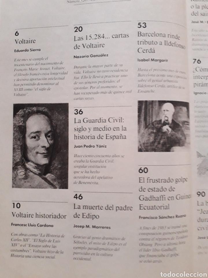 Coleccionismo de Revista Historia y Vida: Historia y Vida revista numero 320. VOLTAIRE. VER FOTOS DEL SUMARIO. BUEN ESTADO - Foto 2 - 268814509