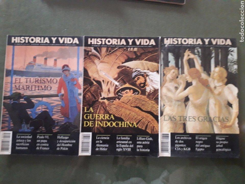 LOTE DE TRES REVISTAS HISTORIA Y VIDA NUMEROS 305, 303, 306. MUY BUEN ESTADO (Coleccionismo - Revistas y Periódicos Modernos (a partir de 1.940) - Revista Historia y Vida)