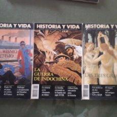 Coleccionismo de Revista Historia y Vida: LOTE DE TRES REVISTAS HISTORIA Y VIDA NUMEROS 305, 303, 306. MUY BUEN ESTADO. Lote 268816289