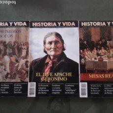 Coleccionismo de Revista Historia y Vida: LOTE DE TRES REVISTAS HISTORIA Y VIDA NUMEROS 314, 319, 317 MUY BUEN ESTADO. Lote 268816949
