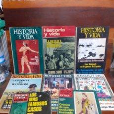 Coleccionismo de Revista Historia y Vida: LOTE DE 8 REVISTAS HISTORIA Y VIDA. AÑOS 60/70. TODOS FOTOGRAFIADOS.. Lote 275751838