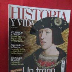 Coleccionismo de Revista Historia y Vida: UN TRONO PARA CARLOS. Lote 277039023