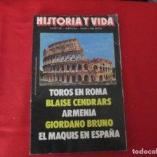 Coleccionismo de Revista Historia y Vida: TOROS EN ROMA. Lote 277039838