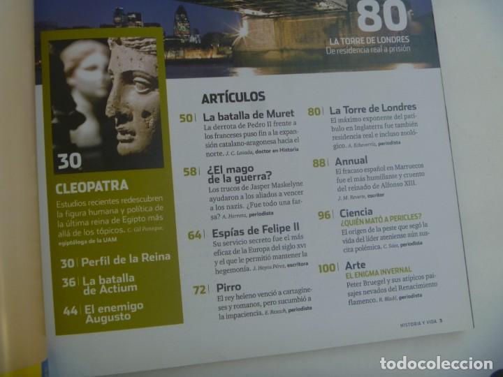 Coleccionismo de Revista Historia y Vida: HISTORIA Y VIDA , Nº 487: CLEOPATRA, DESASTRE ANNUAL, TORRE DE LONDRES, CÁTAROS, ETC - Foto 2 - 278457123