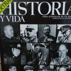 Coleccionismo de Revista Historia y Vida: REVISTA HISTORIA Y VIDA - AÑO XXIII- EXTRA Nº 101. GENERALES DEL SIGLO XX.. Lote 278822063