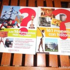 Coleccionismo de Revista Historia y Vida: LOTE 2 LAS 144 PREGUNTAS MAS CURIOSAS Y 161 PREGUNTAS CON HISTORIA - HISTORIA Y VIDA. TENGO + LIBROS. Lote 279529068