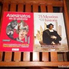 Coleccionismo de Revista Historia y Vida: 75 MENTIRAS QUE HAN HECHO HISTORIA Y ASESINATOS EN LA HISTORIA - HISTORIA Y VIDA. TENGO + LIBROS. Lote 279529363
