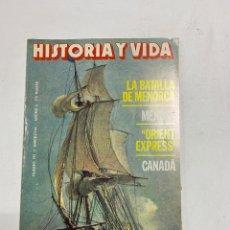Coleccionismo de Revista Historia y Vida: HISTORIA Y VIDA. Nº 192. MARZO, 1984. LA BATALLA DE MENORCA. MENDEL. VER SUMARIO.. Lote 286808043