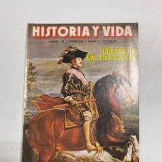 Coleccionismo de Revista Historia y Vida: HISTORIA Y VIDA. Nº 190. ENERO DE 1984. FELIPE IV EN ANDALUCIA. VER SUMARIO.. Lote 286808198