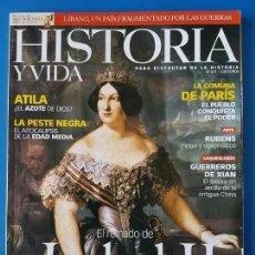 Coleccionismo de Revista Historia y Vida: REVISTA HISTORIA Y VIDA 431. ISABEL II. ATILA (HUNOS). LA PESTE NEGRA (EDAD MEDIA).GUERREROS DE XIAN. Lote 286955633