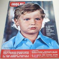 Coleccionismo de Revista Hola: REVISTA HOLA 1974.EL INFANTE FELIPE DE BORBON CUMPLE 6 AÑOS,ETC.... Lote 103788418