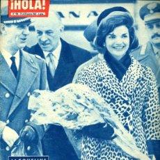 Coleccionismo de Revista Hola: REVISTA HOLA Nº 916, 17-03-1962 PORTADA JACQUELINE KENNEDY. Lote 11520588