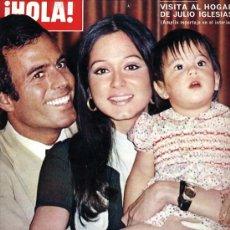 Coleccionismo de Revista Hola: REVISTA HOLA Nº 1480, 06-01-1973 PORTADA JULIO IGLESIAS E ISABEL PREISLER. Lote 27215837