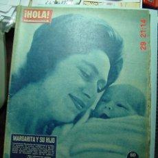 Coleccionismo de Revista Hola: 3634 REVISTA HOLA MARGARITA INGLATERRA - SOFIA DE GRECIA Nº 901 AÑO 1961 MAS EN COSAS&CURIOSAS. Lote 10886064