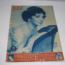 Coleccionismo de Revista Hola: REVISTA HOLA Nº 755 - 1959 - GINA LOLLOBRIGIDA - MARGARITA DE INGLATERRA - EL PRINCIPE RAINIERO. Lote 19112365