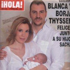 Coleccionismo de Revista Hola: REVISTA ¡HOLA! Nº 3315 - 13 DE FEBRERO 2008 - EN PORTADA: BLANCA Y BORJA THYSSEN CON SU HIJO SACHA. Lote 7681580