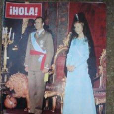 Coleccionismo de Revista Hola: REVISTA HOLA HOMENAJE A LOS REYES DE ESPAÑA,,6-12-1975. Lote 8780315