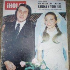 Coleccionismo de Revista Hola: REVISTA HOLA ,BODA DE KARINA -7-4-1973. Lote 8780888