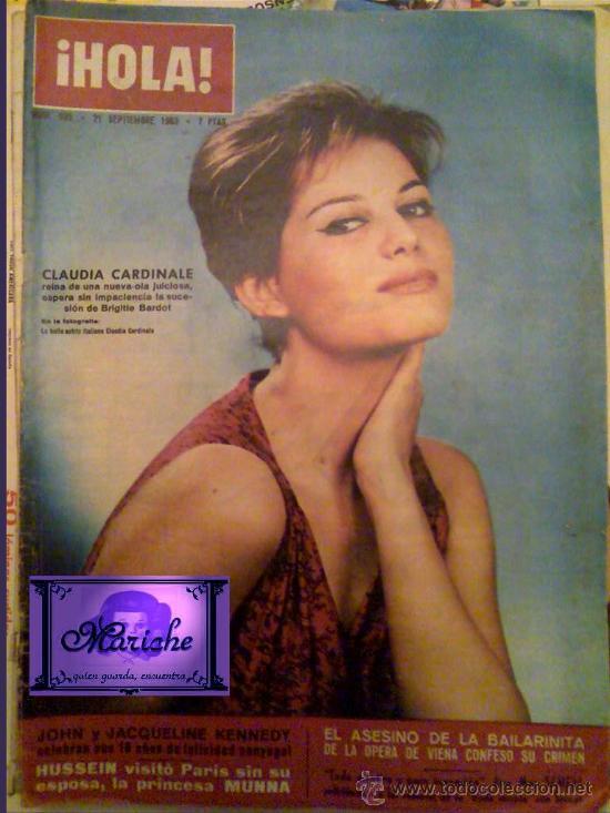 ¡HOLA! REVISTA CLAUDIA CARDINALE EN PORTADA 1963 Nº 995 (Coleccionismo - Revistas y Periódicos Modernos (a partir de 1.940) - Revista Hola)