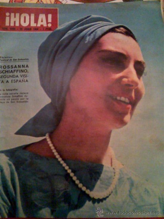 ¡HOLA! 1034 CON ROSSANNA SCHIAFFINNO EN PORTADA 1964 (Coleccionismo - Revistas y Periódicos Modernos (a partir de 1.940) - Revista Hola)