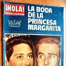 Coleccionismo de Revista Hola: HOLA SUPLEMENTO ESPECIAL: LA BODA DE LA PRINCESA MARGARITA, ALBUM RESUMEN. Lote 24612875
