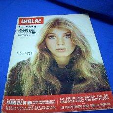 Coleccionismo de Revista Hola: ¡HOLA! Nº 1280- JOANNA SHIMKUS -CARNAVAL DE RIO - AÑO 1969. Lote 19191795
