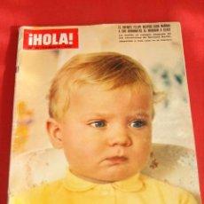 Coleccionismo de Revista Hola: HOLA Nº 1286 ABRIL 1969.EL INFANTE FELIPE DESPIDE CADA MAÑANA A SUS HERMANAS AL MARCHAR A CLASE.. Lote 27521756