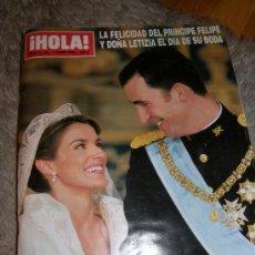 Coleccionismo de Revista Hola: BODA REAL DE FELIPE Y LETIZIA. Lote 26836047
