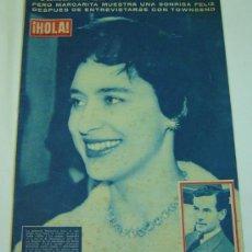 Coleccionismo de Revista Hola: REVISTA HOLA Nº 710- 5 DE ABRIL DE 1958-PRINCESA MARGARITA DE INGLATERRA. Lote 26153437