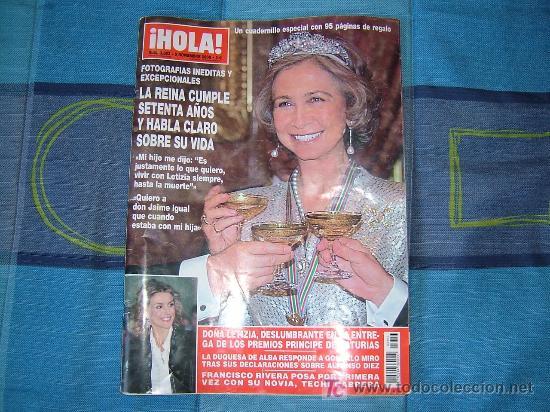 REVISTA HOLA -LA REINA CUMPLE SETENTA AÑOS- 95 FOTOS INEDITAS 5 NOV. 2008 (Coleccionismo - Revistas y Periódicos Modernos (a partir de 1.940) - Revista Hola)