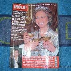Coleccionismo de Revista Hola: REVISTA HOLA -LA REINA CUMPLE SETENTA AÑOS- 95 FOTOS INEDITAS 5 NOV. 2008. Lote 26489678