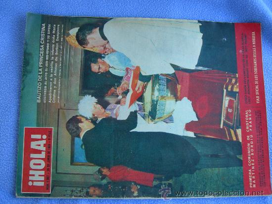 Coleccionismo de Revista Hola: REVISTA HOLA. LOTE DE 6 REVISTAS DISTINTAS. AÑOS 60 - Foto 4 - 13152997