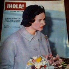 Coleccionismo de Revista Hola: REVISTA ¡HOLA! Nº 996, 28 DE SETIEMBRE DE 1963, LA REINA FABIOLA EN PORTADA. Lote 26509212