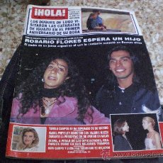Coleccionismo de Revista Hola: REVISTA HOLA MARZO 1996 PORTADA ROSARIO FLORES. Lote 17066422