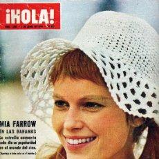 Coleccionismo de Revista Hola: HOLA Nº 1293 (MIA FARROW, ALAIN DELON, KENNEDY,...). Lote 16482557