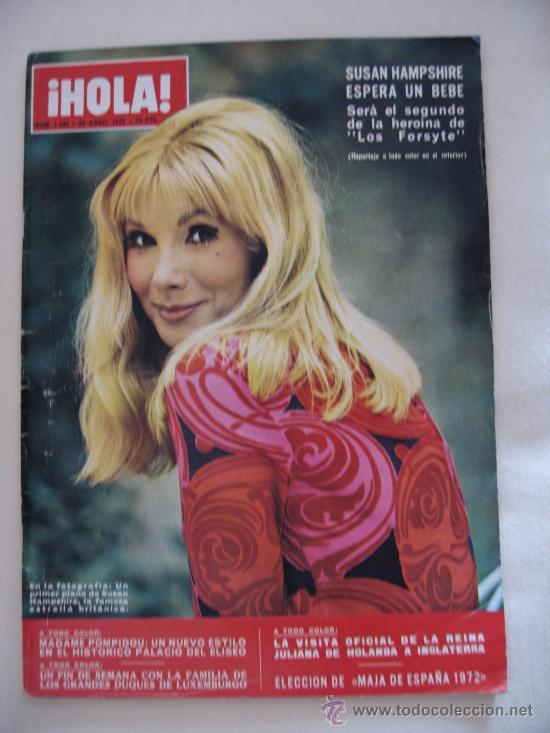 REVISTA ¡HOLA! 29 ABRIL 1972 Nº 1444 (Coleccionismo - Revistas y Periódicos Modernos (a partir de 1.940) - Revista Hola)