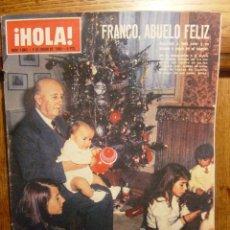 Coleccionismo de Revista Hola: REVISTA HOLA AÑO 1965,FRANCO ABUELO FELIZ, LIZ TAYLOR Y SUS HIJOS EN LA NIEVE. Lote 42772923
