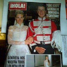 Coleccionismo de Revista Hola: REVISTA HOLA. 3195, 27-10-05. BODA DE CAYETANO Y GENOVEVA.. Lote 27298491