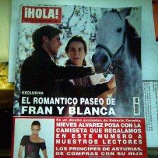 Coleccionismo de Revista Hola: HOLA 3203. 22-12-05. FRAN RIVERA Y BLANCA. NIEVES ALVAREZ. PRINCIPES DE ASTURIAS. IGLESIAS PUGA. Lote 27298482