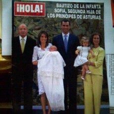 Coleccionismo de Revista Hola: REVISTA HOLA 3286. 25-7-07. INFANTA SOFÍA. BAUTIZO DE LA INFANTA SOFIA. PRINCIPES DE ASTURIAS. Lote 26693346