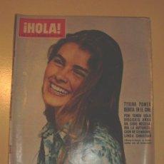 Coleccionismo de Revista Hola: HOLA DICIEMBRE 1970 .. Nº 1371 ... TYRYNA POWER - HUSSEIN - JANE FONDA. Lote 26409944