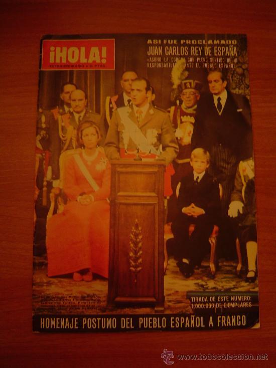 REVISTA HOLA - EXTRAORDINARIO AÑO 1975 (Coleccionismo - Revistas y Periódicos Modernos (a partir de 1.940) - Revista Hola)