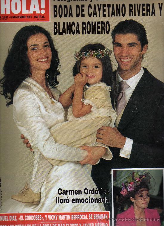 Revista hola n 2987 8 noviembre 2001 port vendido for Hija de blanca romero y cayetano rivera
