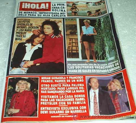 HOLA - REVISTA DE 25/08/1994-Nº 2611- MICHAEL JACKSON-FOTOS BODA CON LA HIJA DE ELVIS PRESLEY- LEER (Coleccionismo - Revistas y Periódicos Modernos (a partir de 1.940) - Revista Hola)