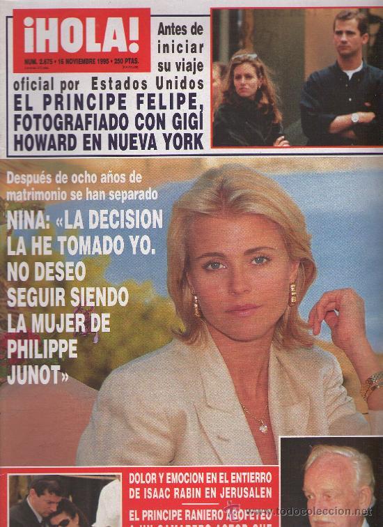 HOLA - 1995 Nº 2675 - MILA XIMENEZ - BELEN RUEDA - ROCIO Y DAVID FLORES - ALAIN DELON (Coleccionismo - Revistas y Periódicos Modernos (a partir de 1.940) - Revista Hola)