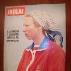 Coleccionismo de Revista Hola: HOLA, AÑO 1976 Nº 1666 REPORAJE A LOS REYES DE JORDANIA-INAGURACION DE LAS OLIMPIADA MONTREAL 76. Lote 24641575